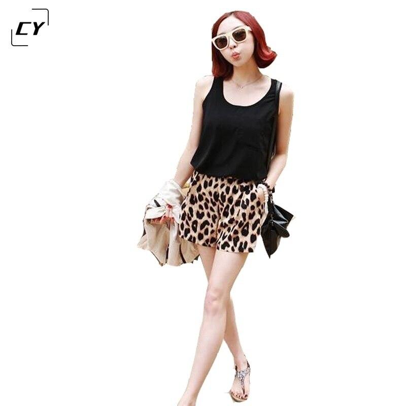 Leopard Print   Shorts   Women 2017 Summer   Short   Pants Loose Leopard Printing   Shorts   Beach Casual Hot   Short   Pants