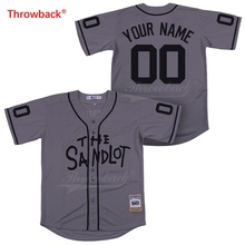 Throwback Jersey Men's The Sandlot Jersey Movie Baseball Jerseys Customized Shirt Any Name Number Colour Gray Size S-XXXL Cheap new baseball jersey bruno mars 24k hooligans bet awards baseball jersey stitched men throwback baseball jerseys viva villa