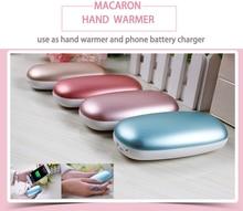 Macaron Hand Warmer Aquecimento Elétrico Portátil Powerbank Multi-funcional 4000 mah USB Bateria Recarregável Para Celular