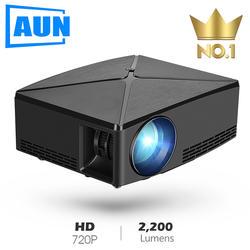 Аун мини-проектор C80, 1280x720 Разрешение, Android bluetooth-проектор, светодиодный Портативный HD мультимедийный проектор для дома Кино, дополнительно