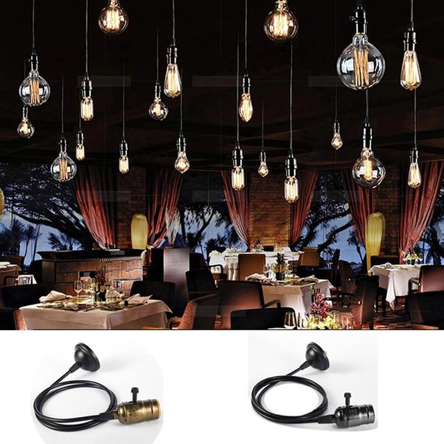 E27 Lamp Holder Hot Sell AC 110-220V Vintage Edison Pendant Light Holder Screw Bulb Base Socket Industrial Fittings Lamp Holders