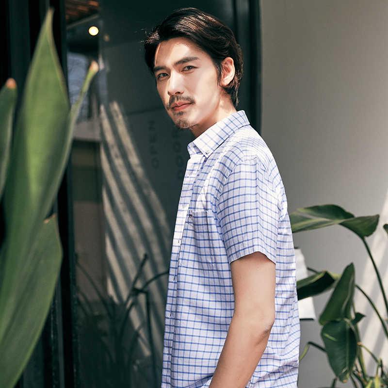 2019 夏新男性シャツ到着メンズファッションストリートカジュアル綿 100% の高品質半袖ロパ Hombre 4XL XT647