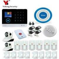 YobangSecurity APP WiFi GSM GPRS RFID Home Burglar Alarm House Security Alarm System Video IP Camera Siren Smoke Fire Sensor