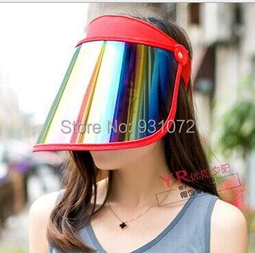 Free FedEx shipping 100pcs lot outdoor UV Protection Sun visor hat ... d23af16d93e