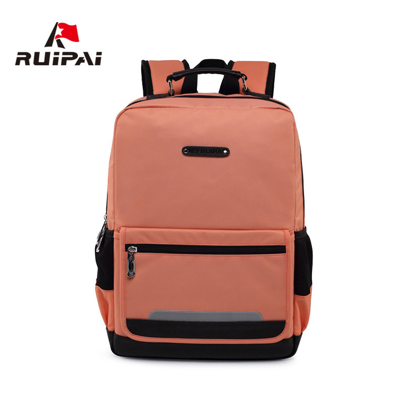 RUIPAI Kids Polyester Simple Backpack Schoolbags Orthopedic Shoulder Bags Mochila For Boys School Students Laptop Bags Rucksack ...