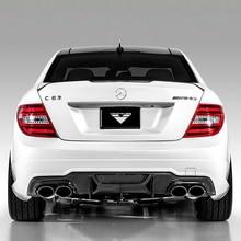 W204 C63 AMG углеродного волокна диффузор, губа на задний бампер для Mercedes Benz 2011