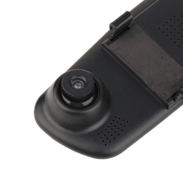 1 pc De Voiture DVR Caméra Vidéo Enregistreur 2.8 pouces 720 p Rétroviseur Dash Cam 120 Degrés Angle Véhicule Double objectif Vue Arrière De Voiture Noir 5