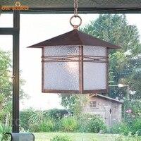 Европейский стиль открытый двор водонепроницаемый люстра открытый простой балкон Pavilion Сельский одной головы лампа ya070