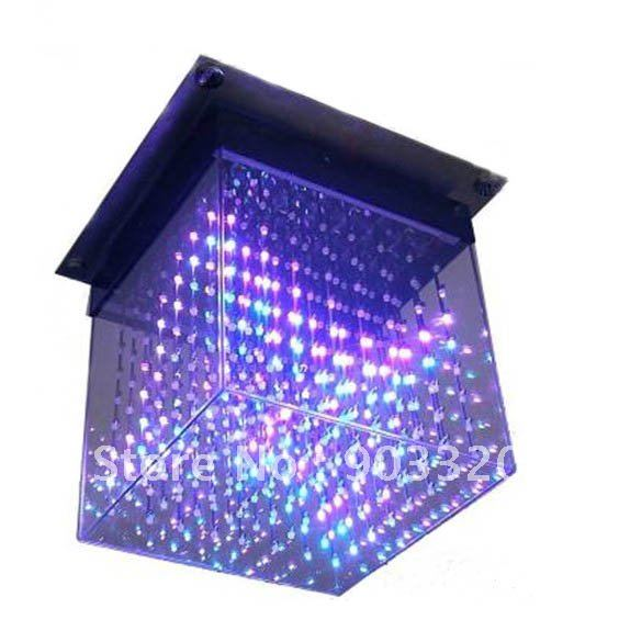 New Smd 5mm 3 In1 Laying 3d Cube Light For Advertising,dj Party Show,led Display,sd Card 3d Led Cube Lgiht Lovely Luster Commercial Lighting Professional Lighting