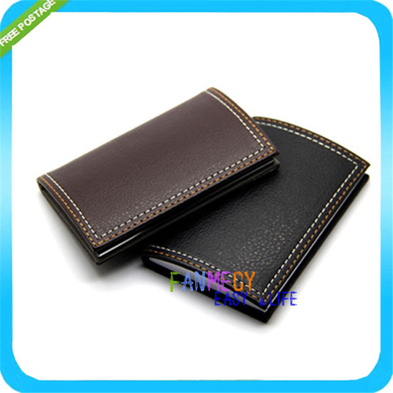 Genuine Leather Magnetic Credit Card Holder Business Name