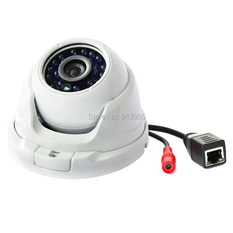 Free shipping Promotion waterproof metal case 1280*720P 1.0 Megapixel Mini dome ir poe hd IP Camera Outdoor security free shipping hot selling 720p 20m ir range plastic ir dome hd ahd camera wholesale and retail
