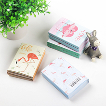 лучшая цена 1pack/lot Cartoon Kawaii Mini Memo Flamingo Series Fold Sticky Notes Memo Pad Memo Message Writing Scratch Pad Paper Label