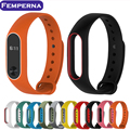 New Xiaomi Mi Band 2 Bracelet Strap Colorful Silicone Wristband Double color Replacement Belt Accessories For Mi Band 2