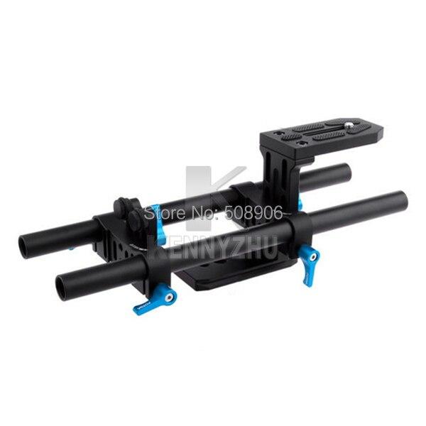 Fotga DP500  Base Plate DSLR Rail 15mm Rod Support System Rig For Mattebox Follow Focus Video Camera 5D II III 7D D90 GH1 K7