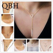 92a9f13dd2b3 NK600 + minimalista infinito suerte 8 Cruz hoja flecha corazón colgantes  Collares para las mujeres moda