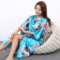 H1686 Albornoz de Las Mujeres de Seda Del Satén Kimono Robes Para Mujer Floral Batas de Novia Damas de Honor Vestido Largo Kimono Bata Bata de Seda