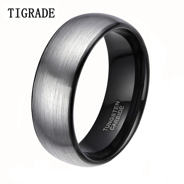 8mm Classic Brushed Men Tungsten Carbide Ring Male Wedding Rings