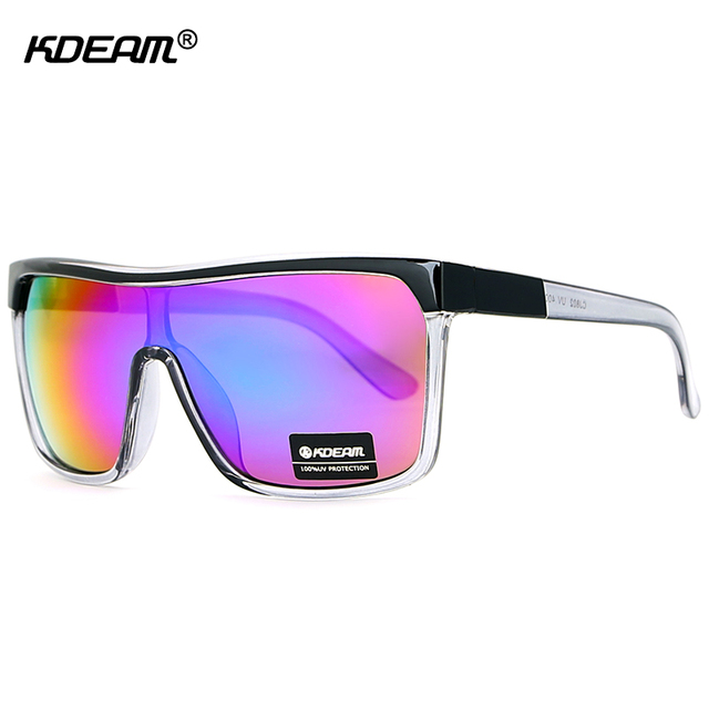 929d26b6f5a KDEAM One Piece Shield Sport Sunglasses Oversized Straight-up Fashion Glasses  Men Protect Eyes From