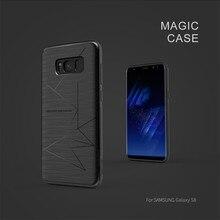 10 шт./лот Оптовая Nillkin Magic чехол для Samsung Galaxy S8 с магнитным держателем Функция Матовая Телефон задняя крышка