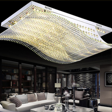 NEW Remote Control LED K9 Crystal Ceiling Lights Smooth Sailing Ceiling Lamps High-power LED Ceiling Lamps Livingroom Lamp