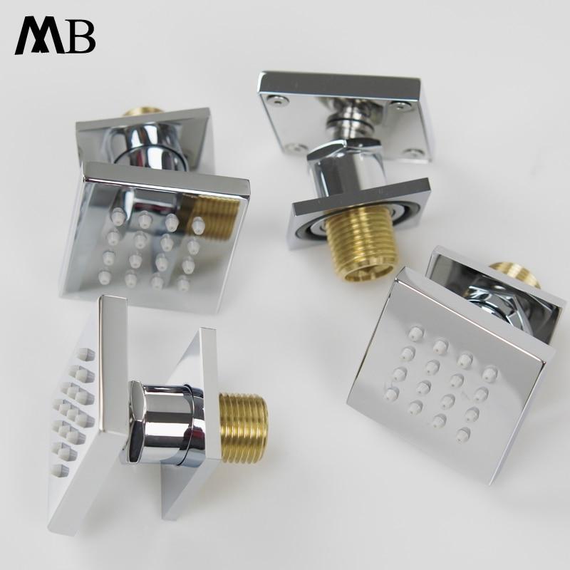 2 Inch Shower Body Massage Spray Jets Bathroom SPA Massage Jets Sprayer Brass Chrome Shower Body 50*50mm Bathroom Accessories цена