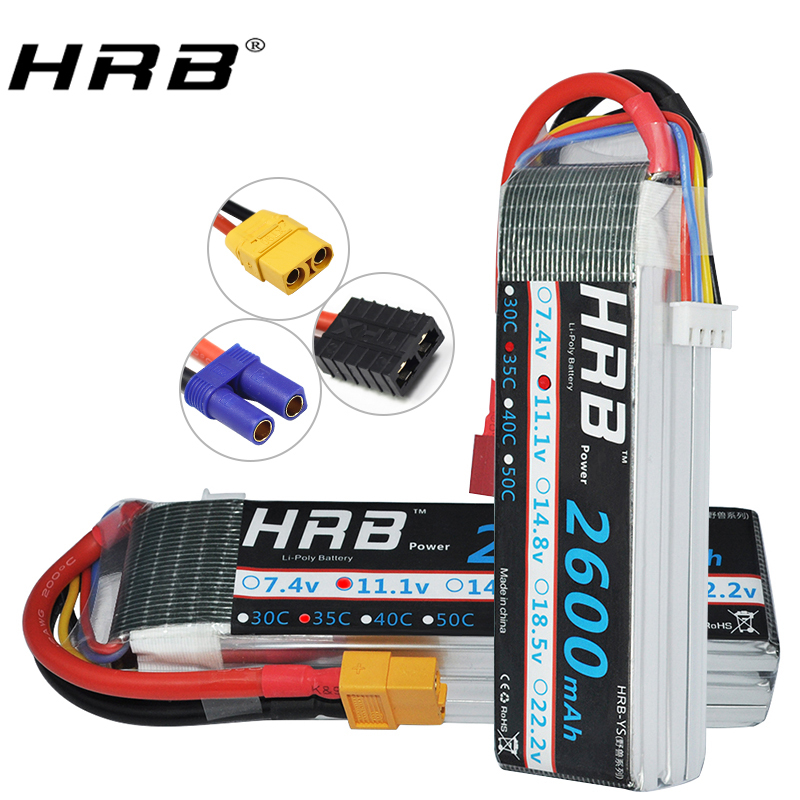 HRB 3S Lipo Battery 11.1v 2600mAh 35C 70C For RC Cars Boat Fpv Drones Helicopter Quadcopter Airplane AKKU Bateria