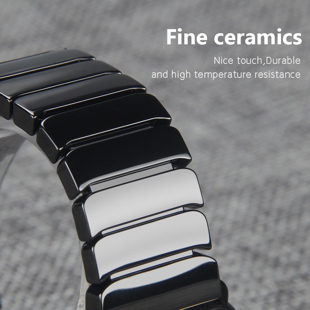 20mm 22mm Watchband Seramik Kayış Samsung Dişli S3 Üç Linkler - Saat Aksesuarları - Fotoğraf 2