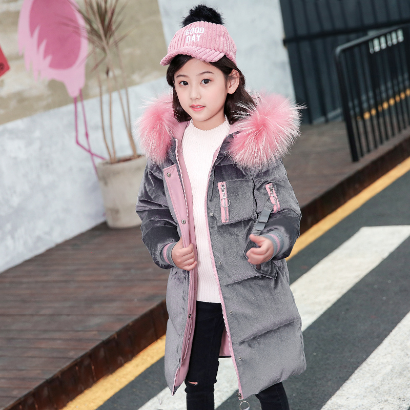 Kids Winter Clothes Large Fur Collar Girls Down Jackets Parkas Duck Down Filling Hooded Thick Warm Children Clothing Snow WearKids Winter Clothes Large Fur Collar Girls Down Jackets Parkas Duck Down Filling Hooded Thick Warm Children Clothing Snow Wear