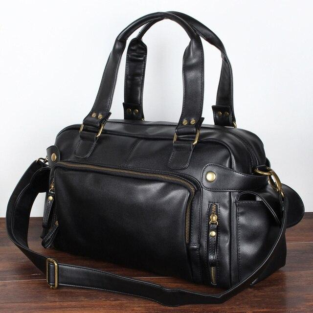 Male Bag England Retro Handbag Shoulder Bag Leather Men Big Messenger Bags Brand High Quality Men's Travel Crossbody Bag XA158ZC 3