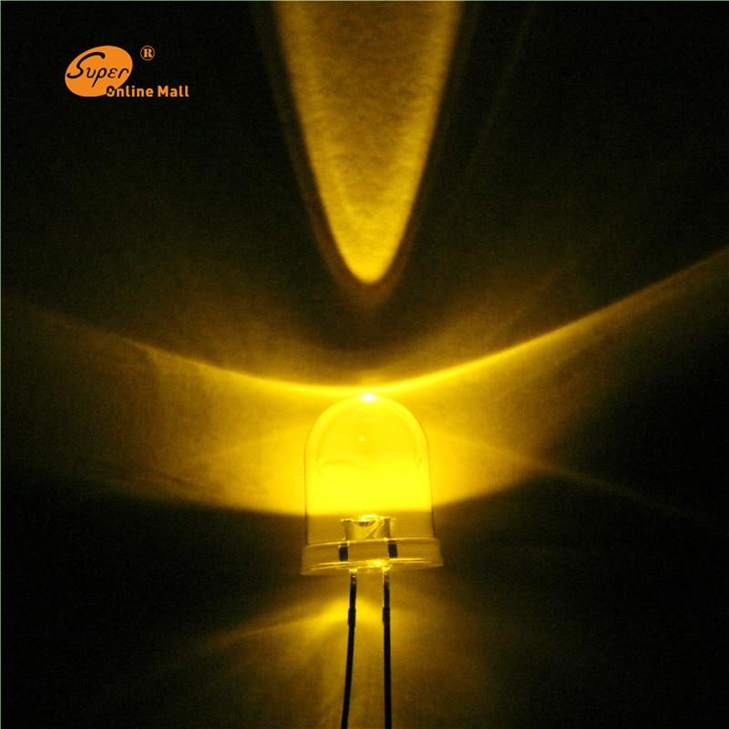 20PCS LED 10mm LED Warm White LEDS DIODE Ultra Bright Super Bright  LED Lamp Light Bulb 10MM Round Top Emitting Diodes