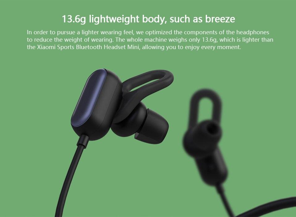 Xiaomi Sports Earphone Bluetooth 4.1 Youth Edition Version Headphones Wireless Bluetooth Headset running AI Control Mi Headsets (4)