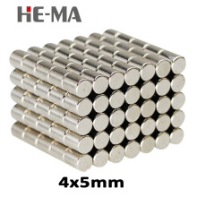 100Pcs 4x5 Neodymium Magnet Permanent N35 NdFeB Super Strong Powerful  Magnetic Magnets Disc 4mm x 5mm ledere 50 100pcs 5x8 neodymium magnet 5mm 8mm strong rare earth neodymium magnets ndfeb permanent magnetic 5mmx8mm 5 8