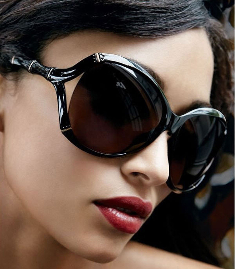 2015 new luxury sunglasses for women brand designer summer style sunglasses with logo black big What style glasses are in fashion 2015
