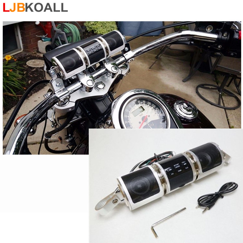 Waterproof Bluetooth Motorcycle Audio Stereo MP3 FM Radio Speaker Handlebar with 8GB For Harley Sporster Softail Bobber Chopper цена