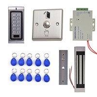DIY 125 кГц RFID Водонепроницаемый IP68 Металл пароль дверной Система контроля доступа комплект + 300lbs Водонепроницаемый магнитный замок