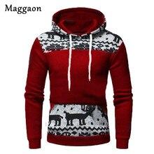 2019 New Autumn Mens Christmas Hoodies Slim Hooded Sweatshirts Mens Coats Male Casual Sportswear Streetwear Brand Clothing