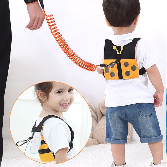 1-8Y Kids Baby Anti Lost Belt Strap Rope Wrist Link Toddler Children 8ft Expandable Cartoon Safety Outdoor Walking Harness Leash 5
