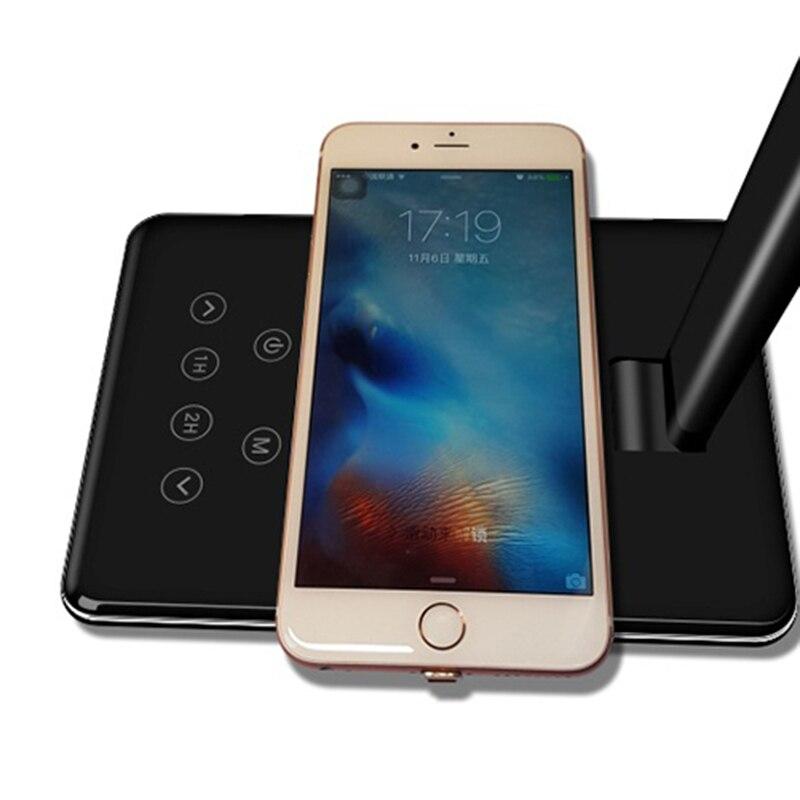 LIDERADA Lâmpada de Mesa Dobrável Carregador Sem Fio de Carregamento USB Do Telefone Móvel com Cabo Para iPhone6 7X8 8 Plus Samsung s8 S7 xiaomi J25 - 6