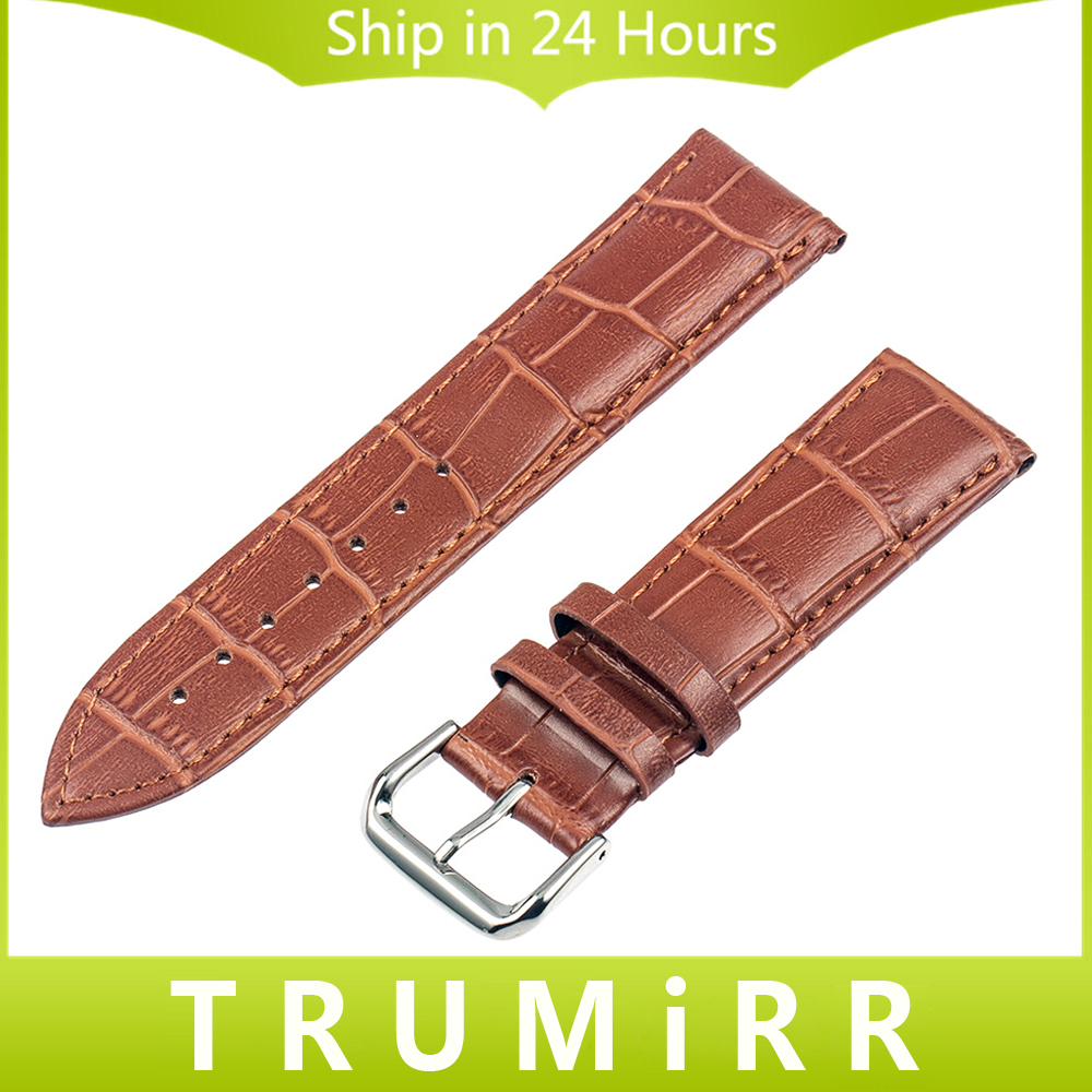 24mm Genuine Leather Watchband Croco Pattern for Sony Smartwatch 2 SW2 Watch Band Bracelet Strap with Stainless Steel Buckle croco pattern genuine casfskin 19mm 20mm 22mm replacement watchband watch straps for brand watch