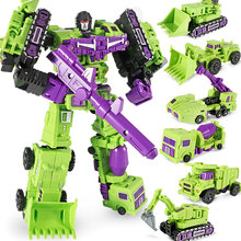 WEIJIANG G1 Transformation WJ Devastator 6 IN 1 Set DX9 Alloy Metal Engineering Truck Mode KO Action Figure Robot Toys цена 2017