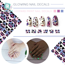 Get more info on the SN Latest Safety Glow In The Dark Nail Art Stickers With Leopard Print Decoration Self-adhesive DIY Nail Tip Stickers Luminous