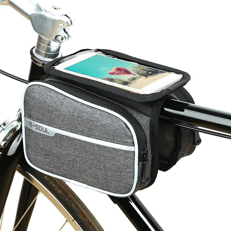 1pc 3 in 1 Cycling Double Pouch Holder Front Pannier Saddle Tube Bike Phone Bag