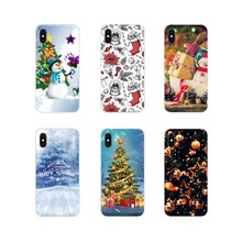 Snow Christmas Ball new Year gift For Huawei P Smart Mate Honor 7A 7C 8C 8X 9 P10 P20 Lite Pro Plus Accessories Phone Case Cover(China)