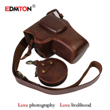 Digital camera Bag Case Leather-based Pouch with lens cap assortment bag With Battery Opening For Nikon D3400 D3200 D3300 18-55mm VR Digital camera
