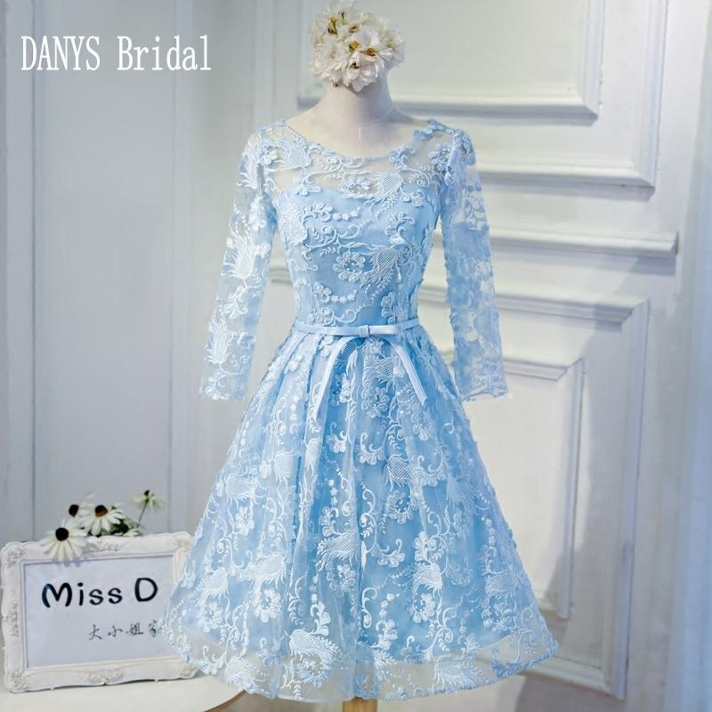 Sky Blue Short Homecoming Dresses 8th Grade Prom Dresses
