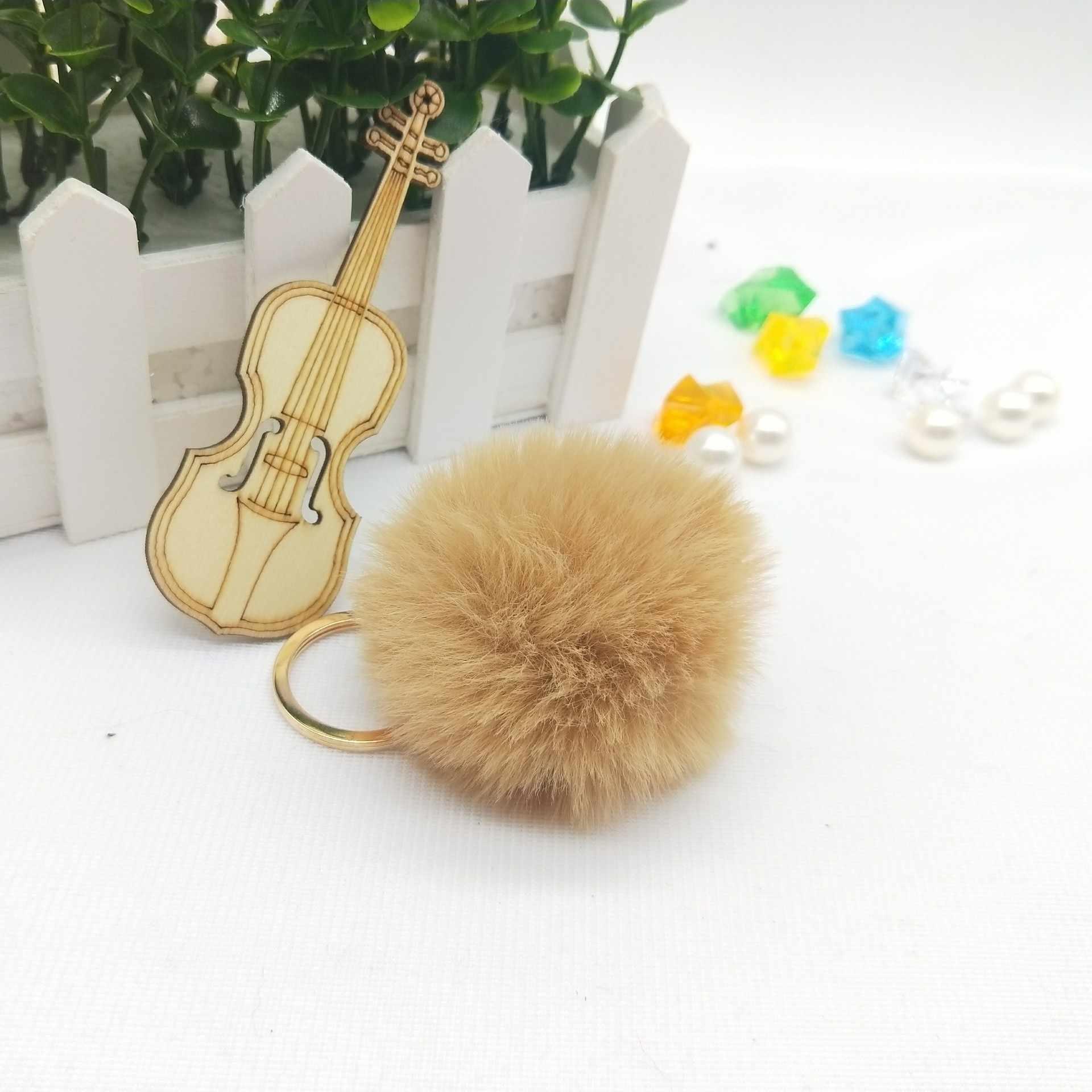 6 cm Falsa Pele De Coelho Bola Pompom Fofo Linda Corrente Chave Chaveiro Chaveiro Bonito Pom Pom Clef Porte Para As Mulheres charme saco de Brinquedos