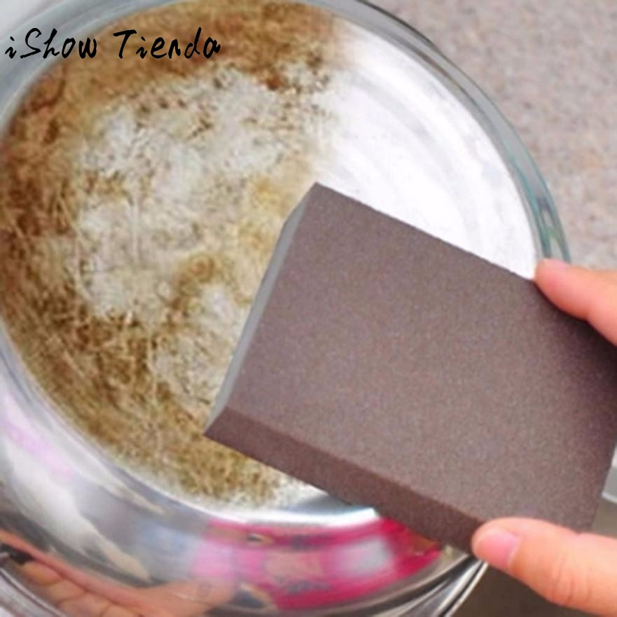 Sponge Carborundum Brush Kitchen Washing Cleaning Kitchen Cleaner Tool Eponge Sable Brosse Cuisine