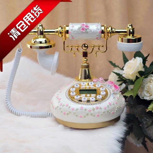 Новый Европейский телефон антикварные телефон стационарный телефон белый ретро стерео цветник телефон