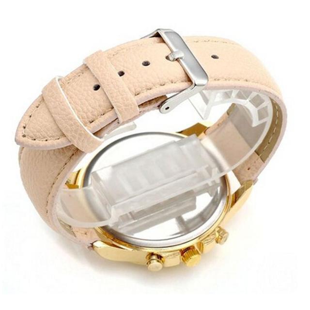 Montre Geneva Watch Women Fashion Roman Numerals Dial Watches Women's Luxury Brand Leather Quartz Watch Clock Relogio Feminino