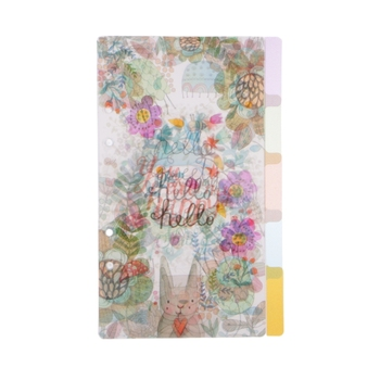 5Pcs Floral Category Page Planner Index Page Notebook Translucent 6 Hole Binder baby page 6